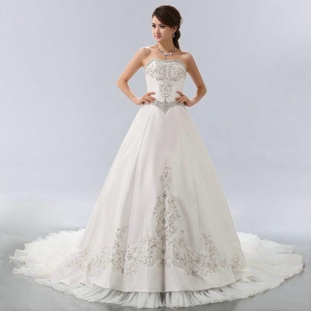 Prinzessin Brautkleider | Elegantes Prinzessin Brautkleid Mit Schleppe Lactraum Make Dream