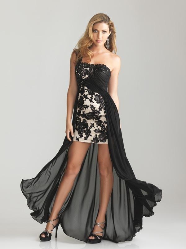 Abendkleider schwarz weiss